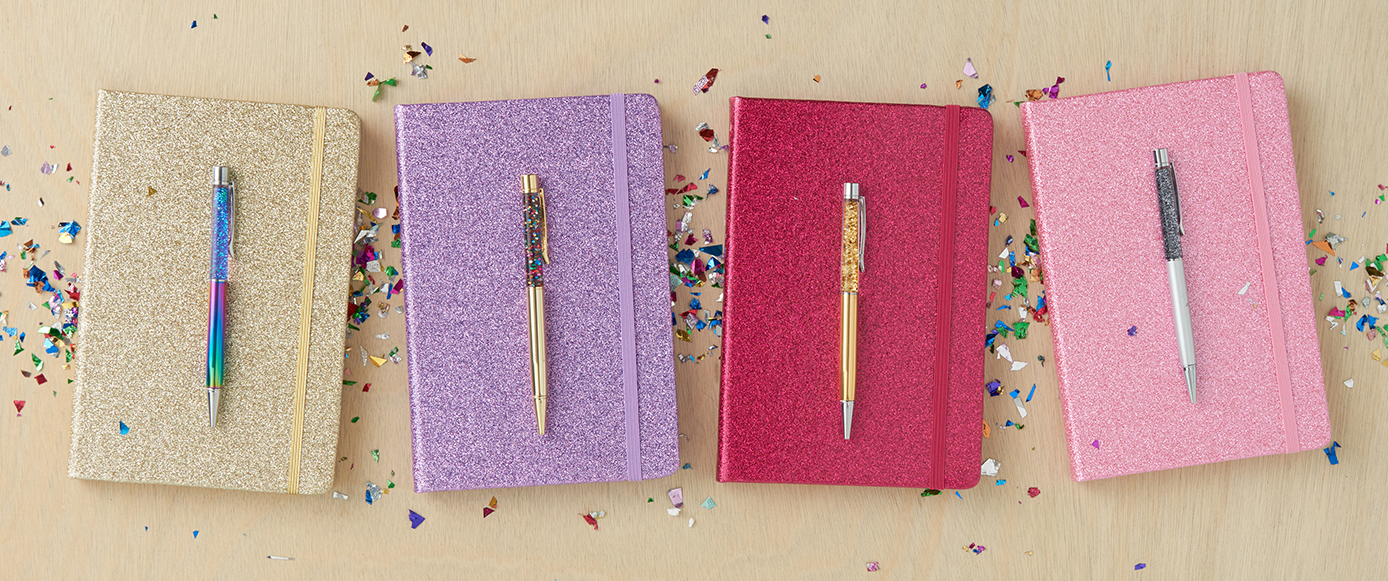Typo pens and notebooks